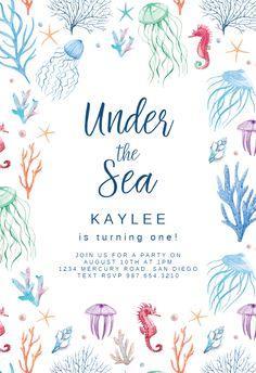Convite com fundo branco e elementos decorativos em verde, azul, vermelho e lilás.