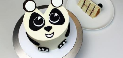 bolo de panda para festinha