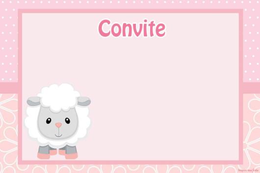 convite ovelhinha para imprimir