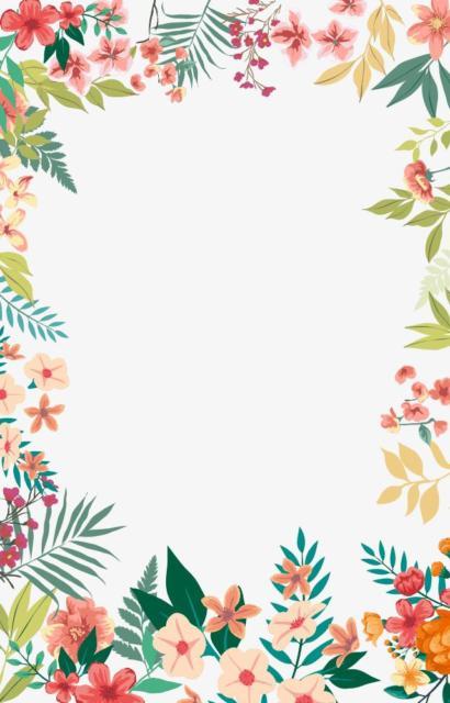 moldura convite primavera