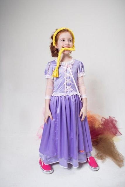 Fantasia de Rapunzel sem saiote.