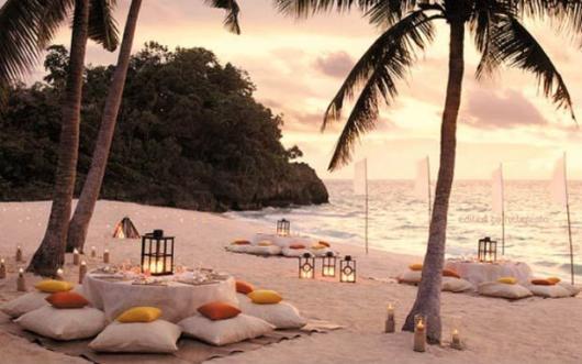 Decoração de festa para praia