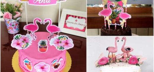 toppers de flamingo