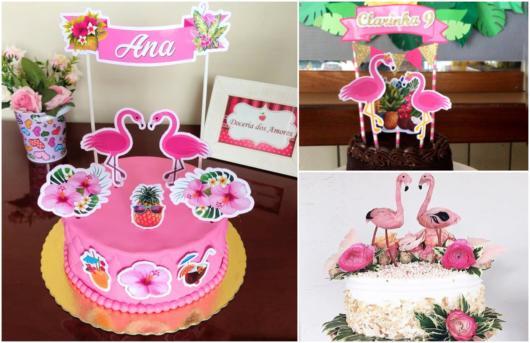 toppers de flamingo