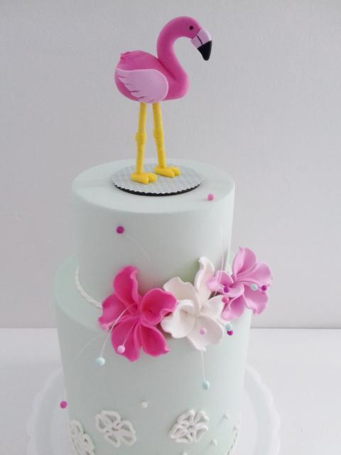 Topo de biscuit de flamingo
