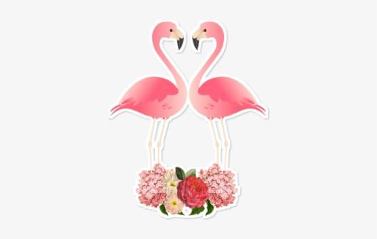 Topo de bolo decorativo para imprimir de flamingos