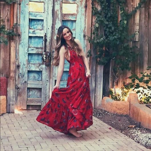 vestido de festa estampado longo estampado