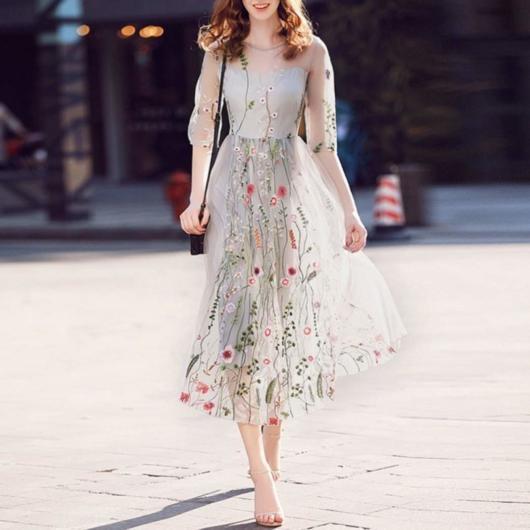 vestido estampado de festa curto luxo