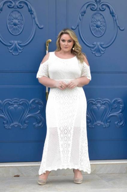 Vestidos plus size para ensaio da noiva