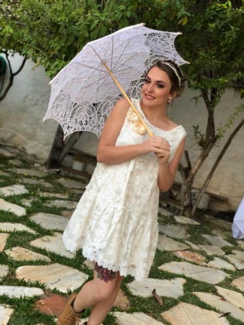 Vestidos curtos para ensaio da noiva