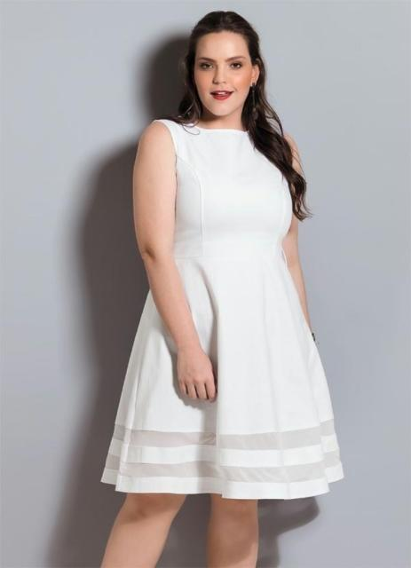 Vestido plus size para ensaio da noiva