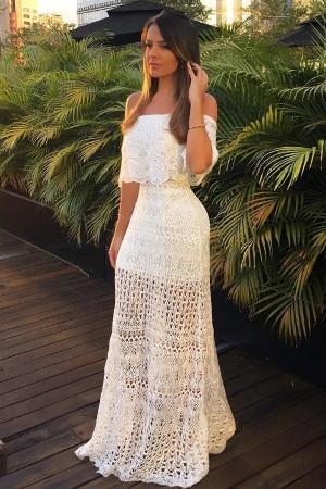 Vestido para ensaio pré-wedding na praia
