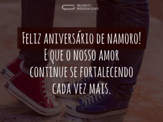 Mensagem para aniversário de namoro