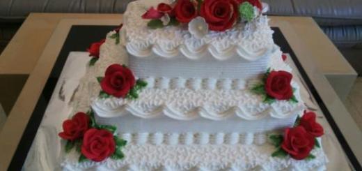 Bolo de chantilly para casamento