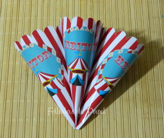 Cone de papel Circo