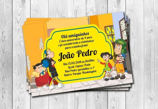 Convite do Chaves com a turma dos jovens.