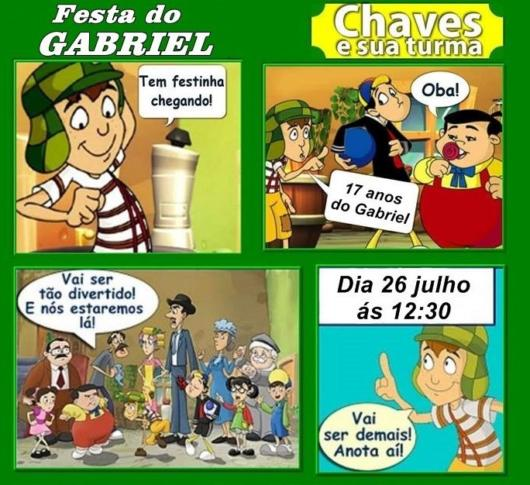 convite em quadrinhos do Chaves.