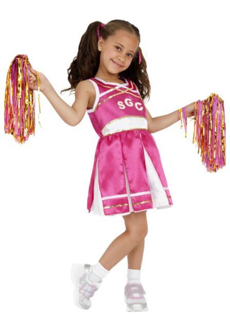 Fantasia líder de torcida: infantil rosa