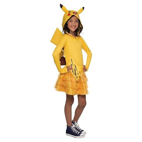 Fantasia Pikachu infantil com saia