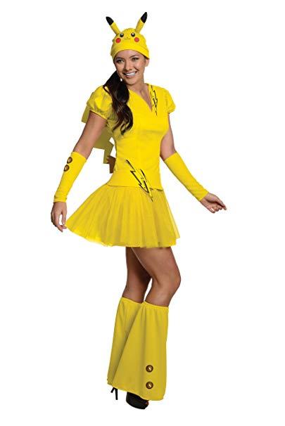 Fantasia Pikachu feminina com vestido