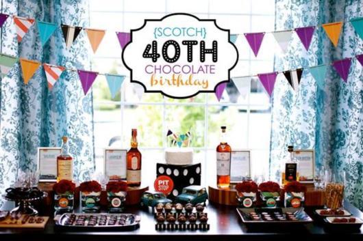 Festa 40 anos masculina com tema de bebida