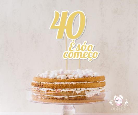 Festa 40 anos masculina: Bolo naked cake