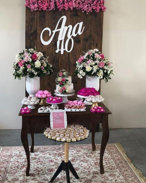 Festa 40 anos: mini table