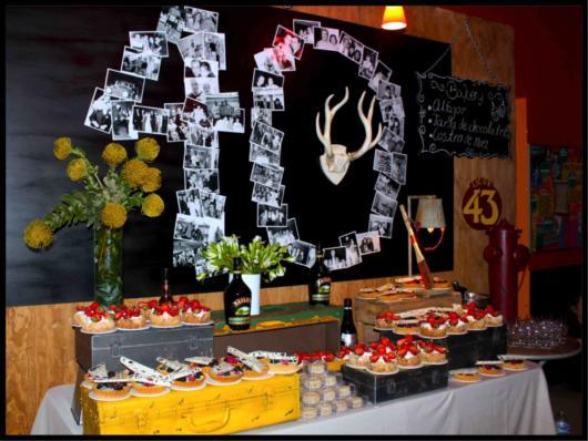 Festa 40 anos: decoração com fotos