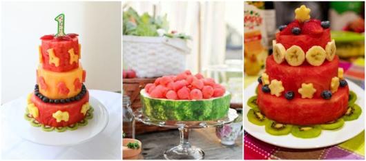 ideias bolo de frutas