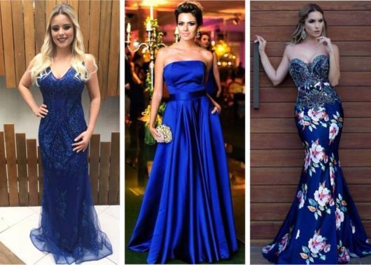 vestidos de madrinha em tons de azul