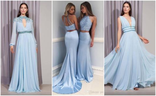 Vestidos azuis para madrinhas