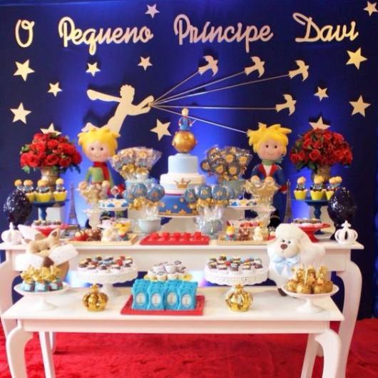 Mesa de bolo decoração Pequeno Príncipe