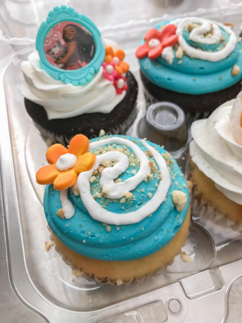 Doces Moana de cuppcake.