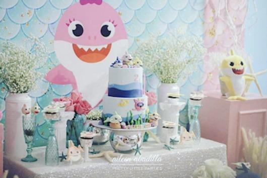 Festa Baby Shark rosa