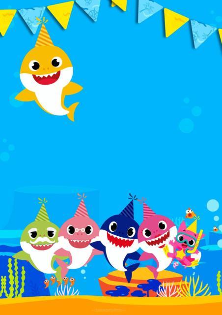 Convites Baby Shark