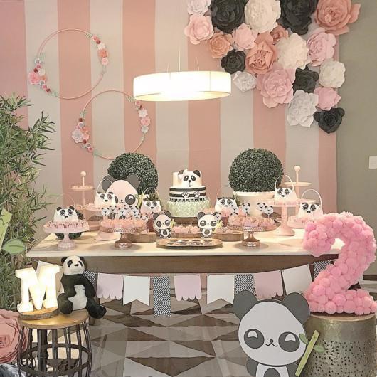 Decoração Festa panda rosa