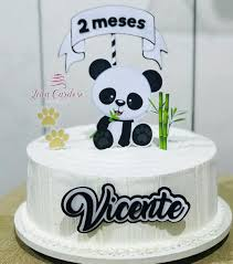 Bolo de Panda de chantili.
