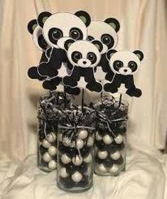 Docinhos de lembrancinha de festa de panda.