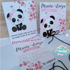 Convite de festa panda.