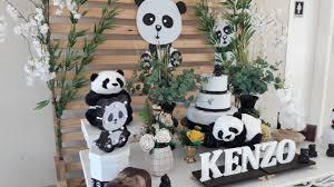 Decoração básica de panda.