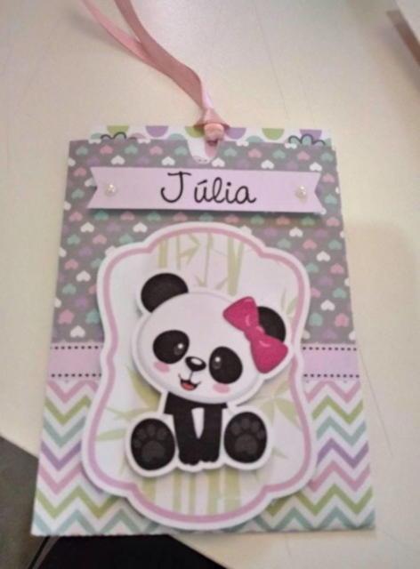 convite de festa panda