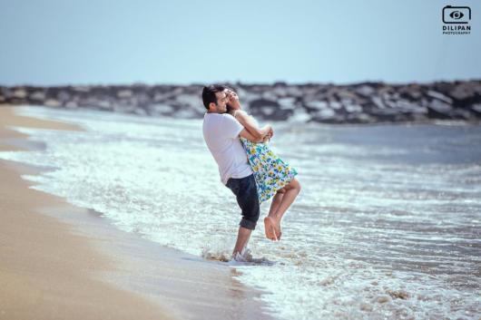 Pré-wedding: na praia