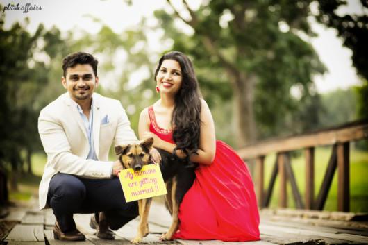 Pré-wedding com cachorro