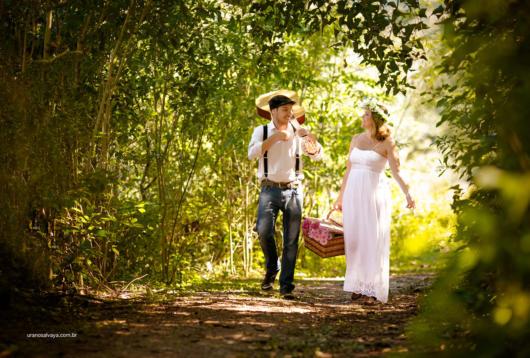 Pré-wedding: no campo