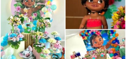 dicas para decorar festa Moana baby