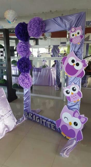 Quadrinho lilás para decoração.