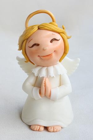 topo de bolo de batizado anjo loiro biscuit