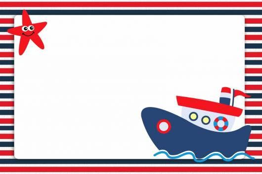 Convite marinheiro para imprimir grátis