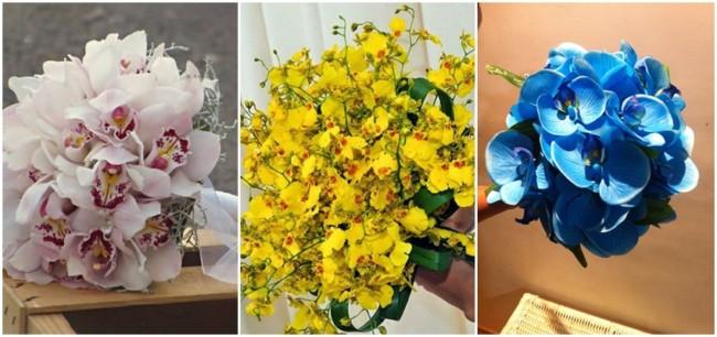 buquê de noiva de orquídeas