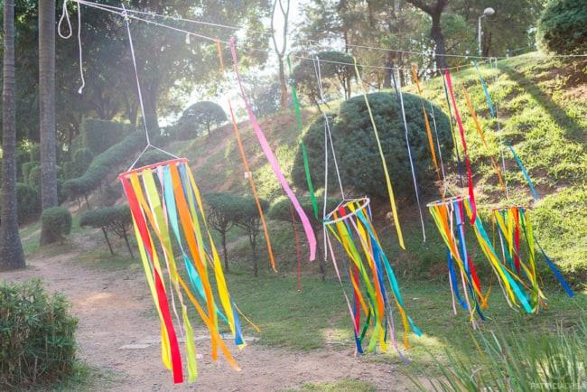 decoração com fitas de cetim